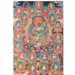 Thangka Reproductie - 21 Tara's