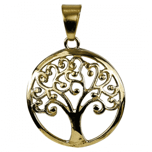 Tree of Life Hanger Messing Goudkleurig