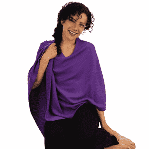 Meditatie Poncho Cashmere Paars