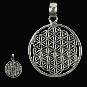 Flower of Life Hanger Messing Zilverkleurig