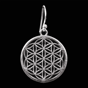 Flower of Life Oorbellen 925 Zilver