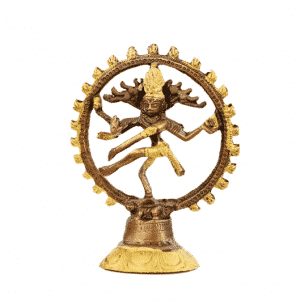 Shiva Nataraj Messing Tweekleurig - 20 cm - (Model 1)