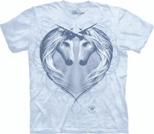 T-Shirt Mountain Artwear Unicorn Heart M