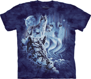 T-Shirt Mountain Artwear Find 10 Wolves S