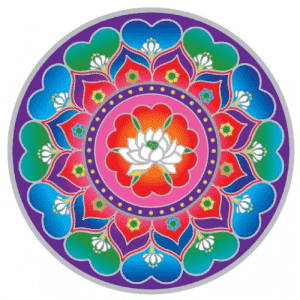 Raamsticker Lotus Heart Mandala