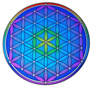 Raamsticker Flower of Life New