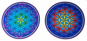 Raamsticker Flower of Life Mandala