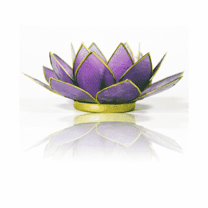 Lotus Sfeerlicht Lila Goudrand