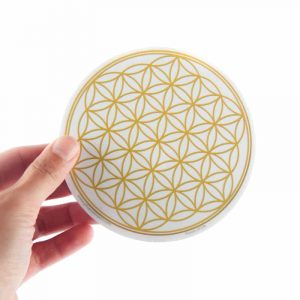 Raamsticker Flower of Life Gold