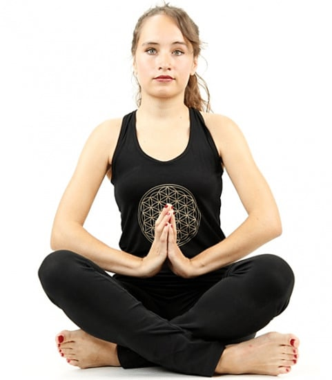 Yoga Top 'Flower of life' Zwart – S