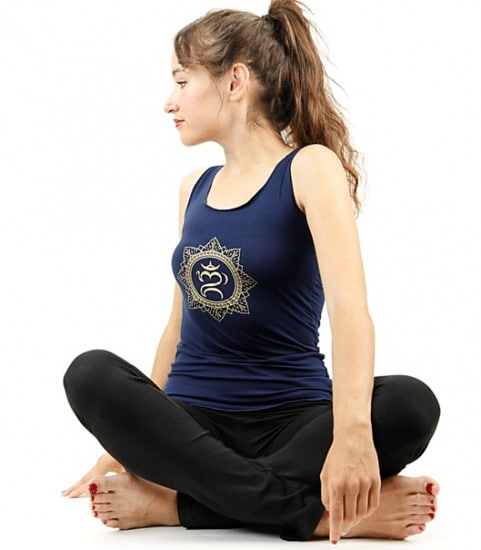 Yoga Top 'OHM bali' Navy