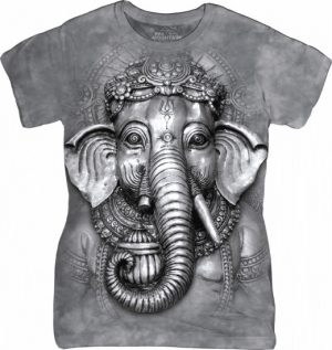 Ladies T-Shirt Mountain Artwear Big Face Ganesh
