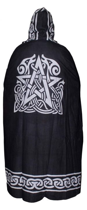 Black Altar Zwart Cape - Pentagram
