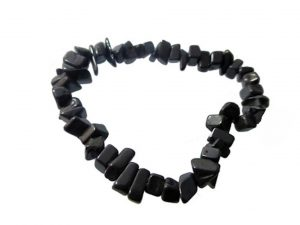 Chips Stones Armband Obsidian