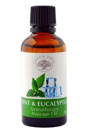 GREEN TREE Massage Olie Mint & Eucalyptus