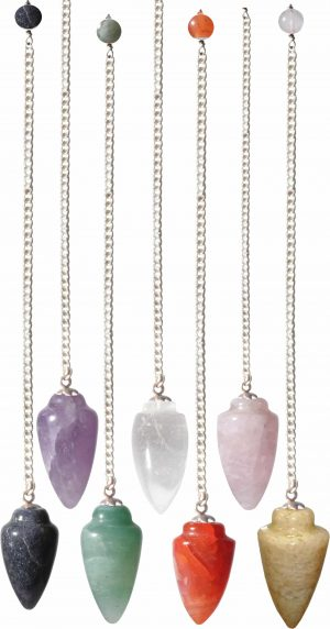 Pendel Gemstone Curved Assorted Stones (12 stuks)