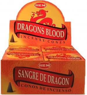 HEM Wierook Kegel Dragon Blood (12 pakjes)