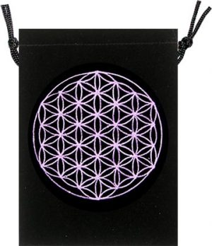 Fluwelen Tasje - Flower of Life Design