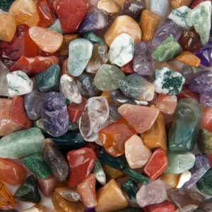 Trommelstenen India Mix (5-10 mm) – 100 gram