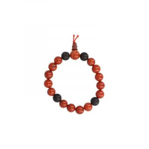 Powerbead Mannen Armband Jaspis Rood (Extra Lang)