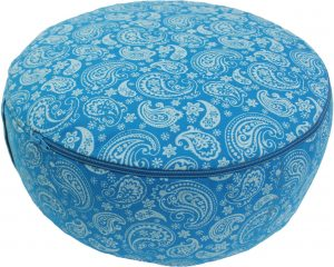Meditation Cushion Dyed Cotton Canvas Turquoise