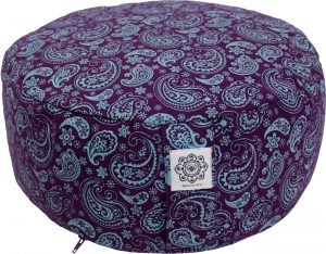 Meditation Cushion dyed Cotton Canvas Purple & Pink