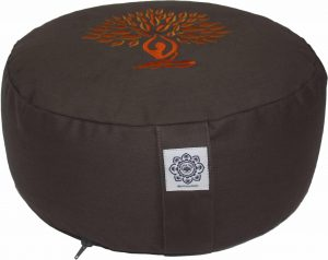 Meditation Cushion Dyded Cotton Yoga Tree Orange