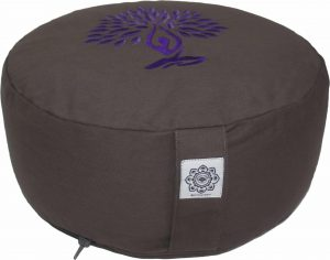 Meditation Cushion Dyed Cotton Yoga Tree Purple