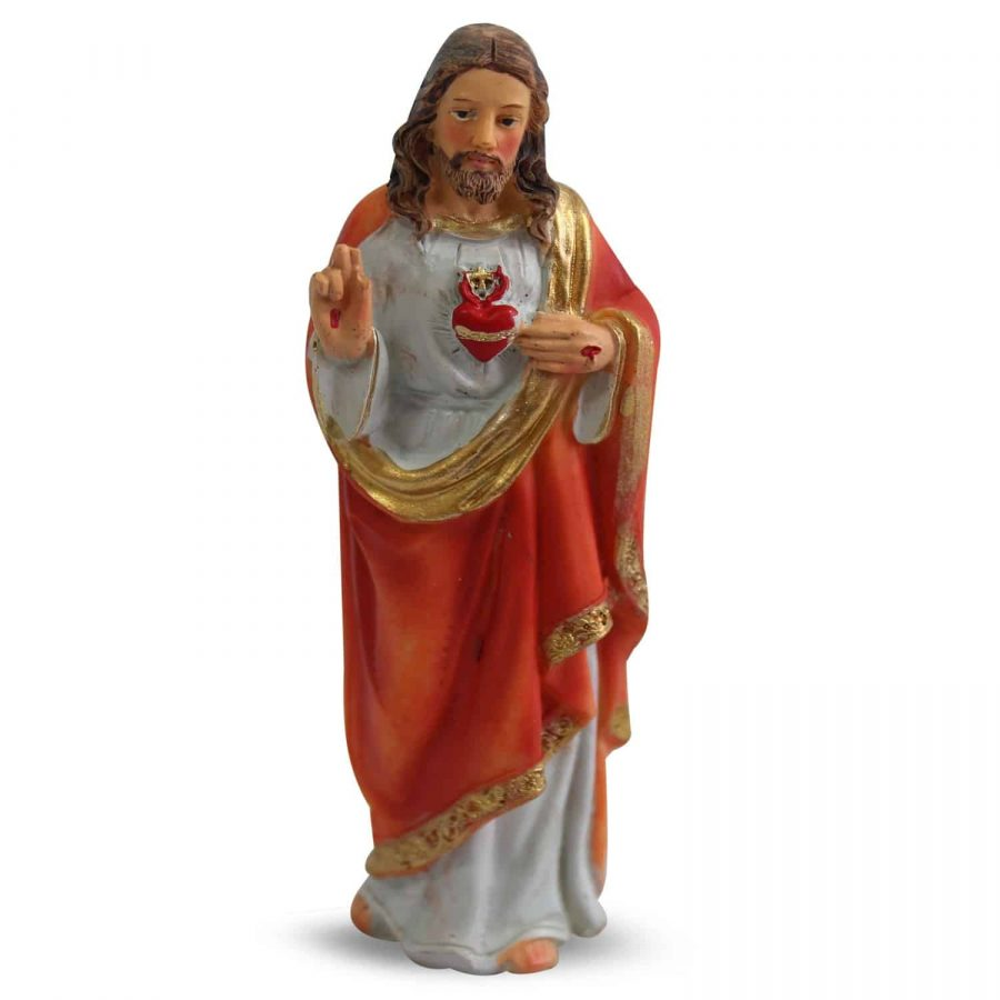 Beeld van Jezus Heilig Hart (12 cm – 6 stuks)