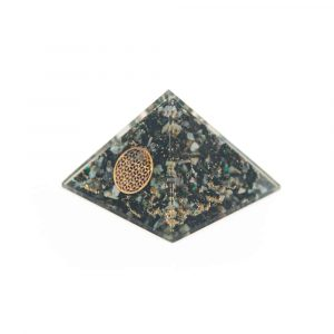 Orgonite Piramide Chrysokolla - Flower of Life - (70 mm)