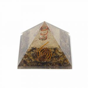 Orgone Piramide Tijgeroog Flower of Life Groot