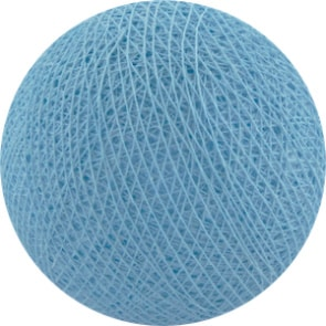 25 losse Cotton Ball's (Baby Blauw)