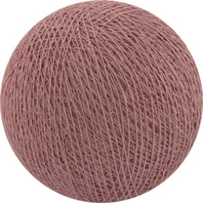25 losse Cotton Ball's (Dirty Rose)