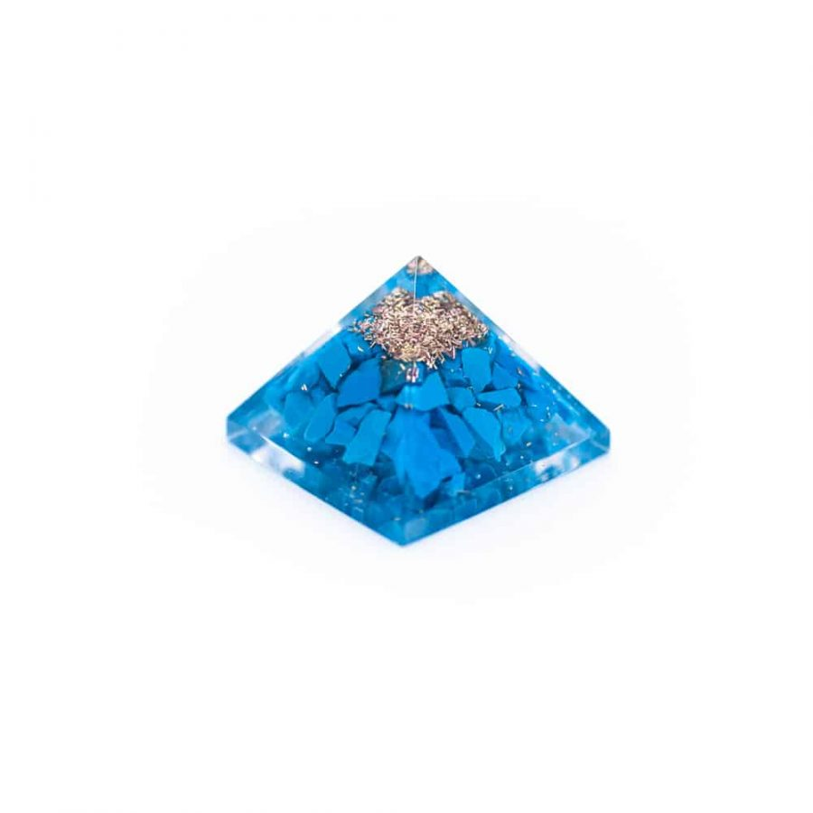 Orgonite Baby Piramide van Turkoois