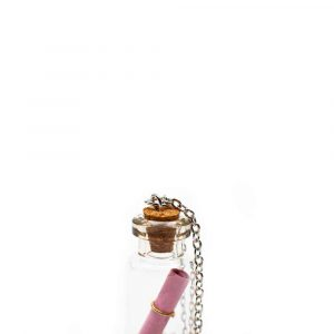 Wensketting Message in a Bottle Roze