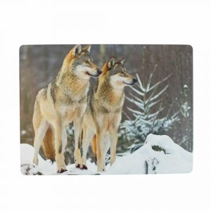 Placemats 2 Wolven (Set van 4)