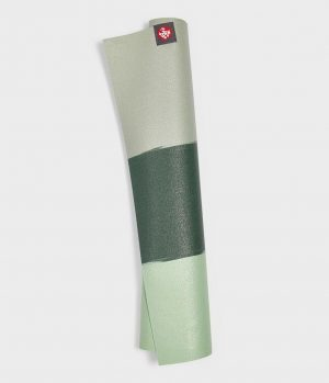 Manduka eKO SuperLite Yogamat Rubber Groen 1.5 mm - Ash Stripe - 180 x 61 cm