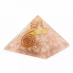 Orgone Piramide Rozenkwarts Flower of Life (40 mm)