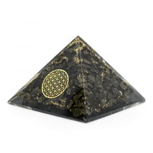 Orgonite Piramide Pyriet - Flower of Life - (70 mm)
