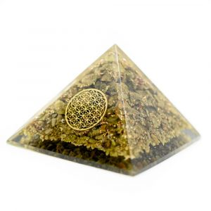 Orgoniet Piramide met Epidote - Flower of Life (70 mm)