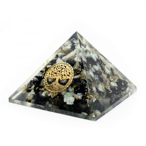 Orgonite Piramide van Chrysocolla - Tree of Life (40 mm)