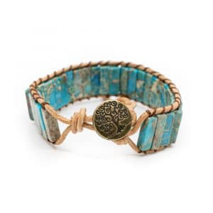 Bohemian Blauw Tree of Life Armband