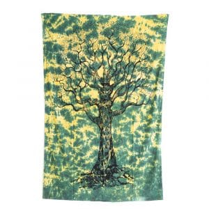 Authentiek Wandkleed Katoen met Tree of Life (215 x 135 cm)