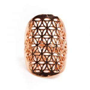 Verstelbare Ring Flower of Life Koper (30 mm)