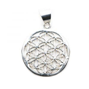 Flower of Life Hanger 925 Zilver (20 mm)